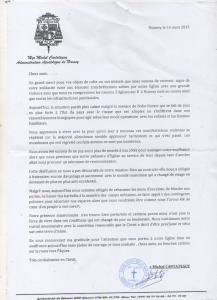 Lettre Michel CARTATEGUY